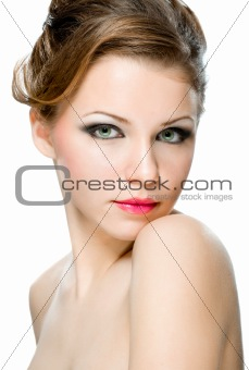 Attractive natural woman's face