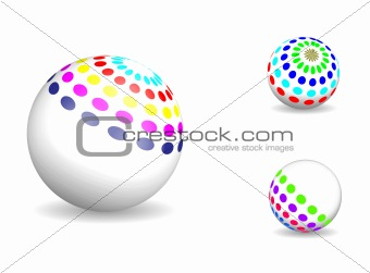 3D colorful sphere vector
