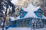 The Russian house in the winter