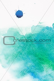 Watercolor blue sea