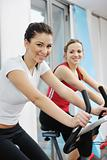 woman workout  in fitness club