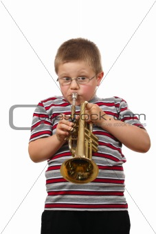 Boy Blowing Trumpet