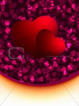 Greeting valentine card. EPS 8