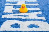 Rubber Duckie on Bathmat