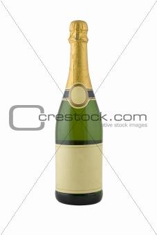 green bottle of champagne