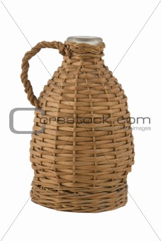 ancient demijohn for wine