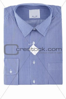 blue business striped shirt