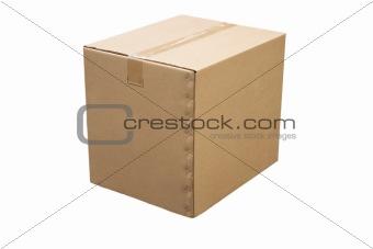 closed cardboard box