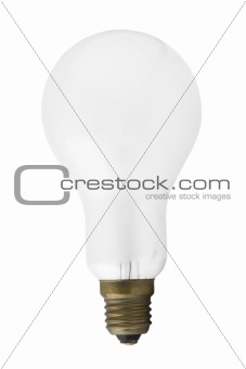 Single light bulb isolated