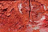 red wooden with grunge paint