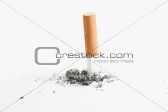 Cigarette but over white