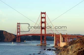 Golden gate bridge from the Presidio