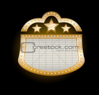 Golden Theater Marquee