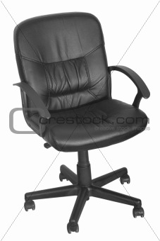 black office chair with wheels