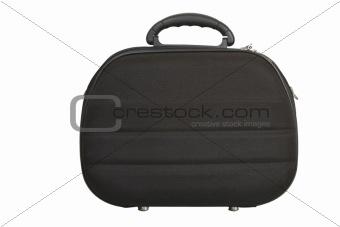 black handbag, modern luggage