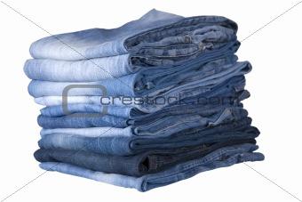 blue jeans stack
