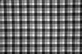 fabric print with black and white grid