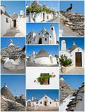 Trulli Alberobello Collage.