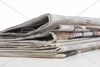 newspaper stack, information concept