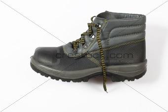 black footwear, equipment for workers