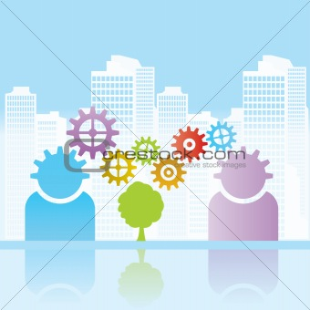 Business, urban and environment background