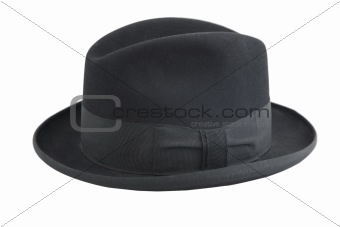 black vintage hat, gentleman icon