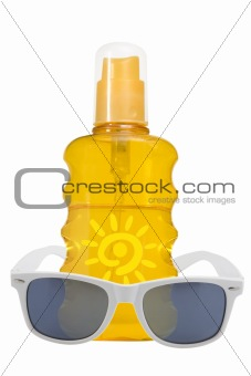 oil product, sun protection and sunglassses