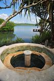 Jacuzi in tropical paradise