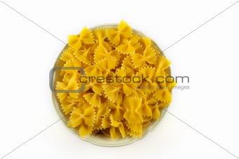 Bowl of raw pasta