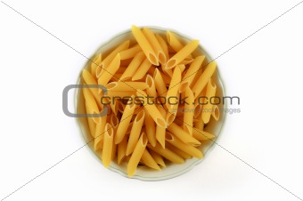 Bowl of raw pasta