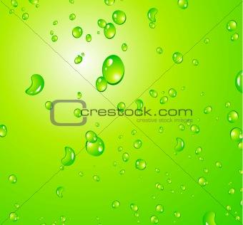 Liquid Drops Background