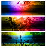 Rainbow Backgrounds Set
