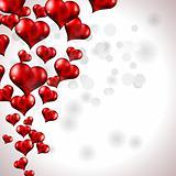 Red Flying Heart Background for Valentine's Day Flyer