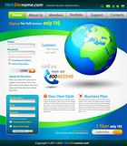 Business Solutions WebSite Template with accurate Globe illustration