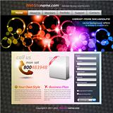Colorful Abstract Template for Stylish web developing