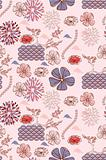 japanese style seamless spring floral pattern