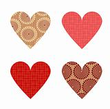 vector holiday hearts