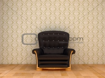black leather chair