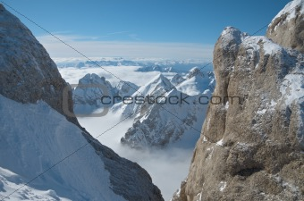 View from Punta Rocca, Marmolada
