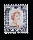 SARAWAK - CIRCA 1953 - First day cover postage stamp marking coronation of Queen Elizabeth 2nd in commonwealth