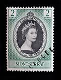 MONTSERRAT - CIRCA 1953 - First day cover postage stamp marking the coronation of Queen Elizabeth 2nd in England