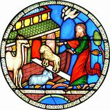 Noahs Ark Cathedral stained glass window