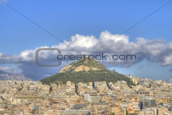 Mount Lycabettus in Athens,Greece