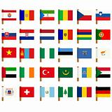 World flag icons set 1