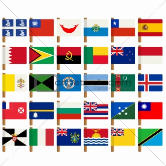 World flag icons set 6