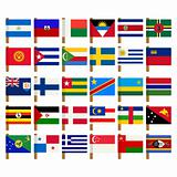 World flag icons set 7