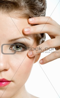 Attractive natural woman face