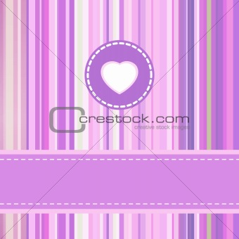 Valentine card design template. EPS 8