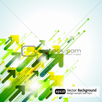 Green Abstract Vector Pointer Background