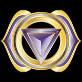 Vector Gem, Jewelry, Medallion like the Hindu Chakra of Ajna